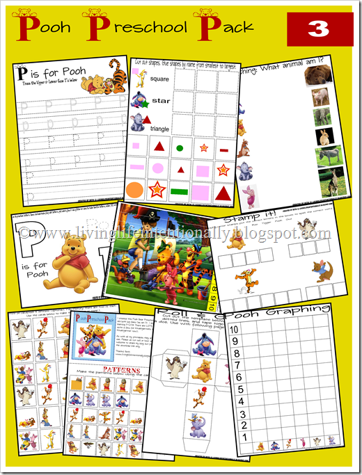 Many Different Themed Learning Packs For Preschoolers Tangled