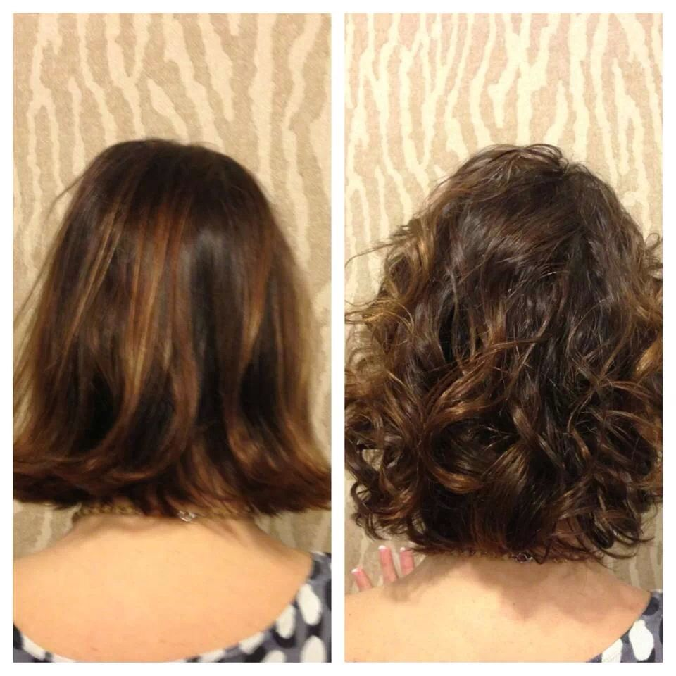 American wave before and after by heidi of salon sabeha for C curl perm salon vim