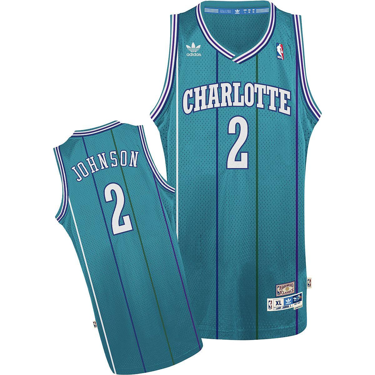 eccb230d0 adidas Charlotte Hornets Larry Johnson Soul Swingman Road Jersey -  NBAStore.com