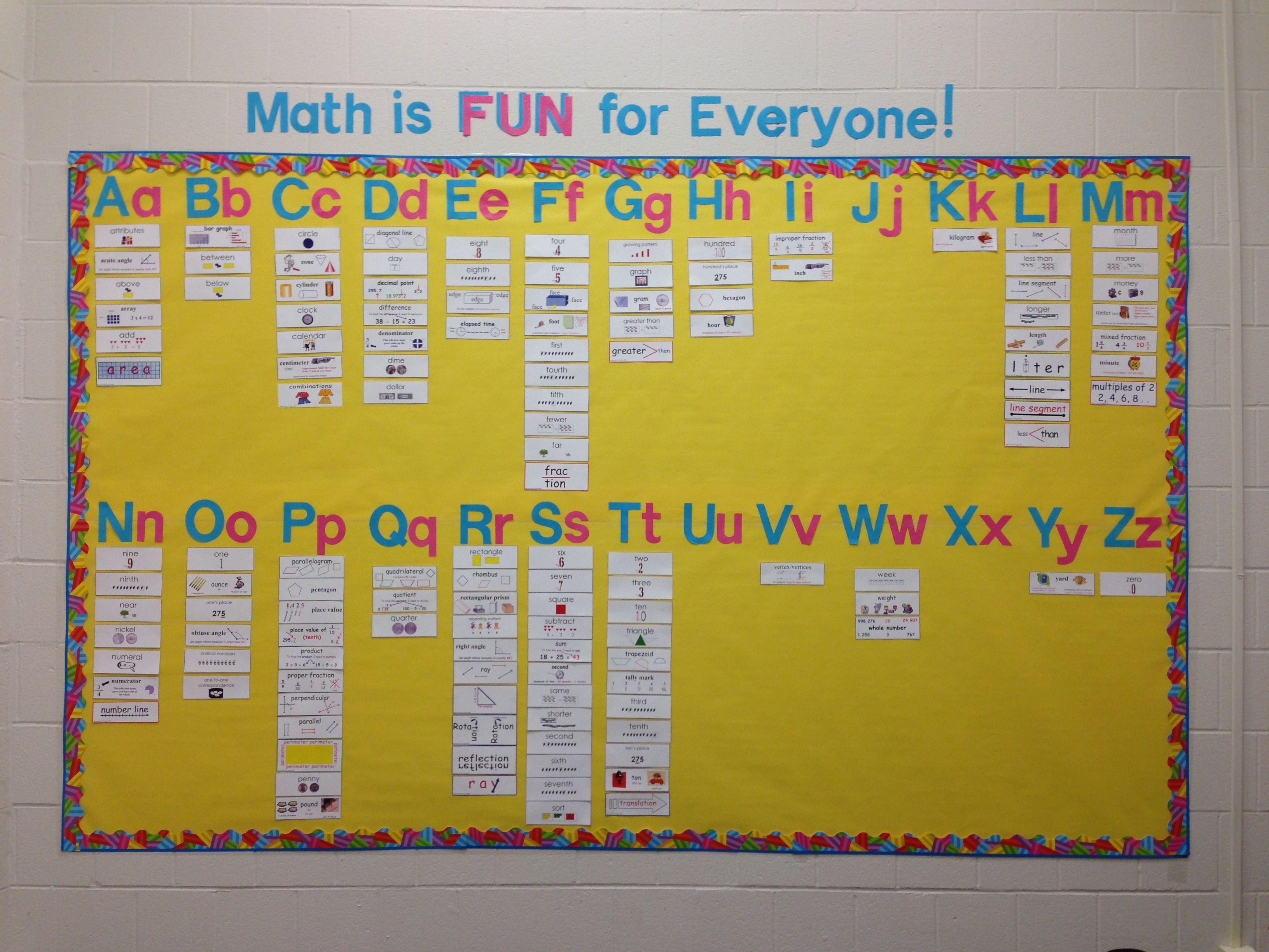 Math Word Wall | Bulletin Boards | Pinterest | Math words, Math and ...