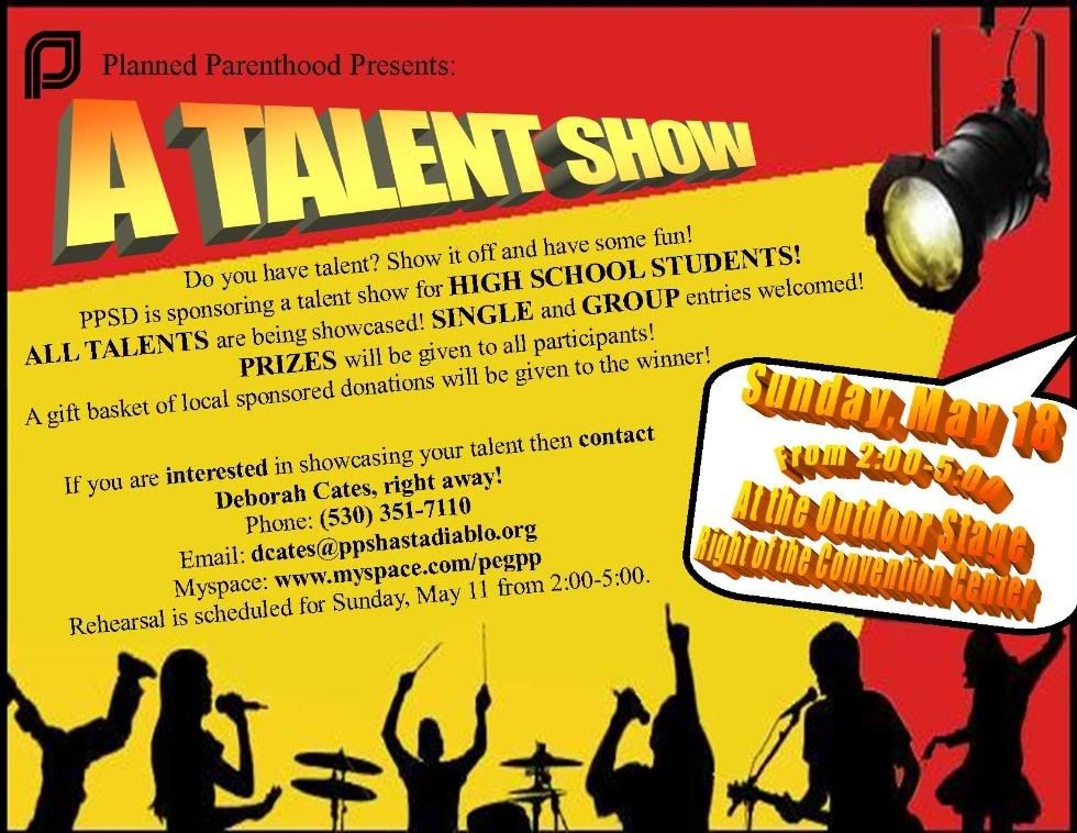 Attractive Talent Show Flyer Pattern - Administrative Officer Cover