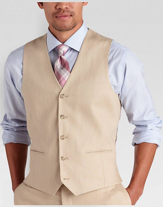 In cool and comfortable linen, this suit separate vest allows you ...