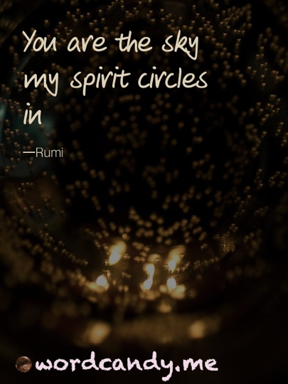 Love Quotes You Are The Sky My Spirit Circles In Rumi