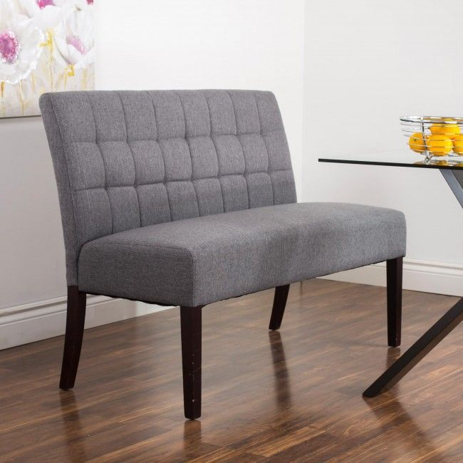 Attractive Sit Comfortably On The Rand Fabric Dining Bench. With A Thick Cushioned  Seat, The