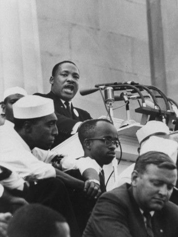 Rev Martin Luther King Jr Giving His I Have A Dream Speech