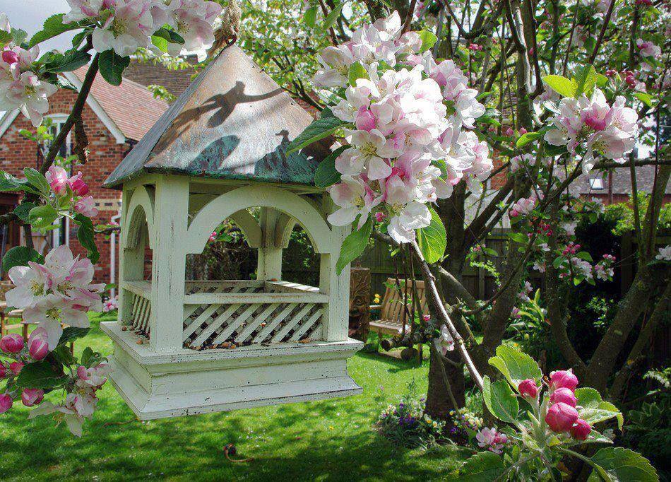 Conforto num delicado jardim...