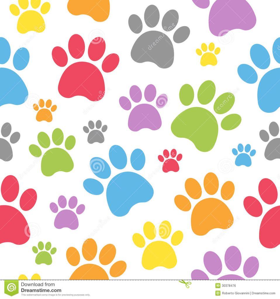 Huellas De Colores Arte Con Huella De Pata Huellas De Perro Huellas De Gato