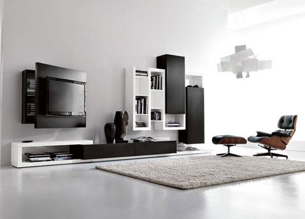 25 Stunning Minimalist Living Room Designs Mueble tv, Tv y Muebles - mueble minimalista