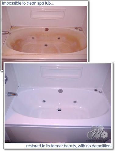 Acrylic Bathtub Repair Miracle Method Refinish Bathtub Bathtub Repair Bathroom Refinishing