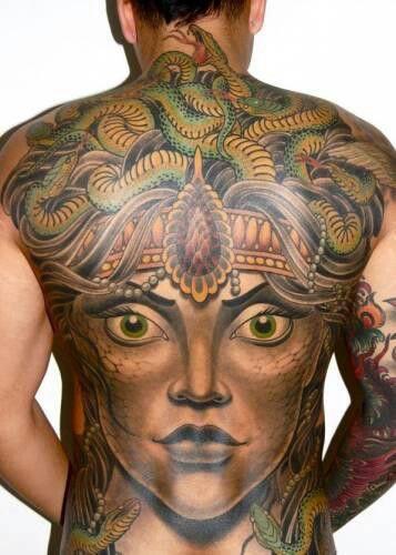 2f91a624987 Medusa back tattoo, Awesome!!!   Quill   Medusa tattoo design ...