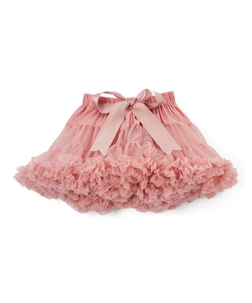 Dusty Rose Lavender Chiffon Pettiskirt - Infant Toddler & Girls