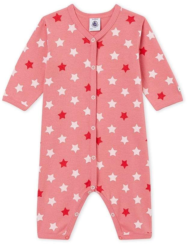 008576e03 BABY GIRL S FOOTLESS SLEEPER  print graphic footless