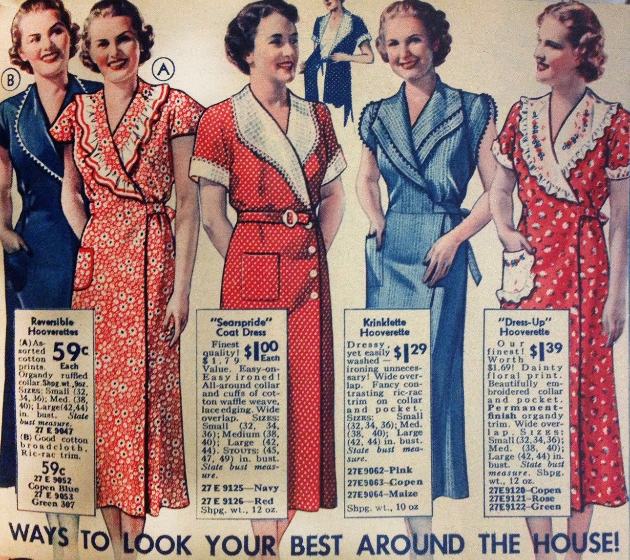1930s House Dresses Fabrics Patterns Vintage 1930s Dress 1930s Fashion House Dress