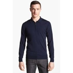 Salvatore Ferragamo Half Zip Polo Sweater Navy Medium - product - Product Review
