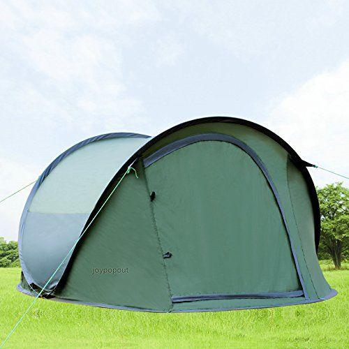 Large Pop Up Backpacking C&ing Hiking Tent Automatic Instant Setup Easy Fold back - Olive u003e & Large Pop Up Backpacking Camping Hiking Tent Automatic Instant ...