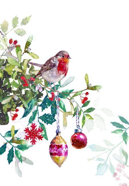 Christmas Wreaths Clip Art Butterfly