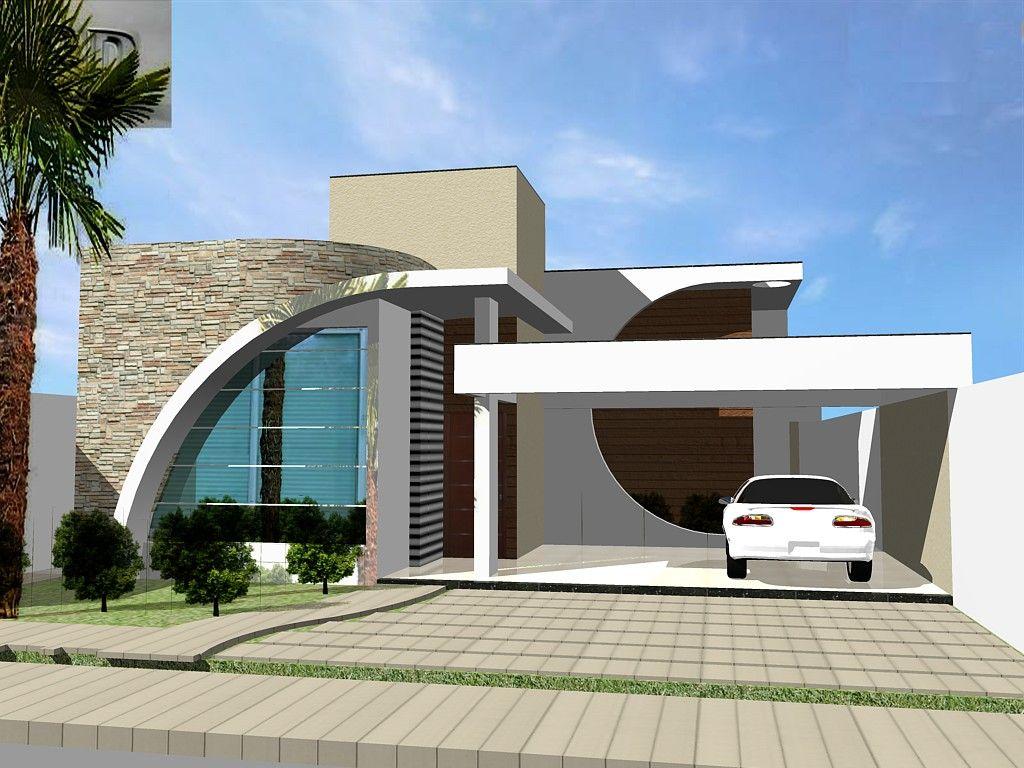 Como decorar minha fachada de casas terrea pesquisa for Decorar casas online 3d
