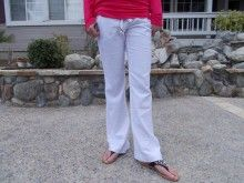 White Linen Pants!! Perfect for Spring and Summer!  Only $32.00