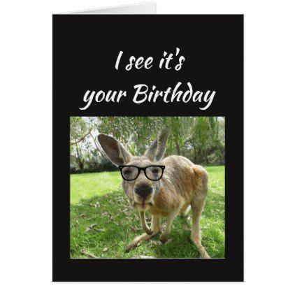 Fun Kangaroo Cheers Mate Australian Animal Humor Card Zazzle Com Australia Animals Australian Animals Animals