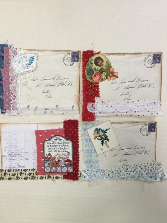 Junk journal cards, tags, pockets, inserts, hand made