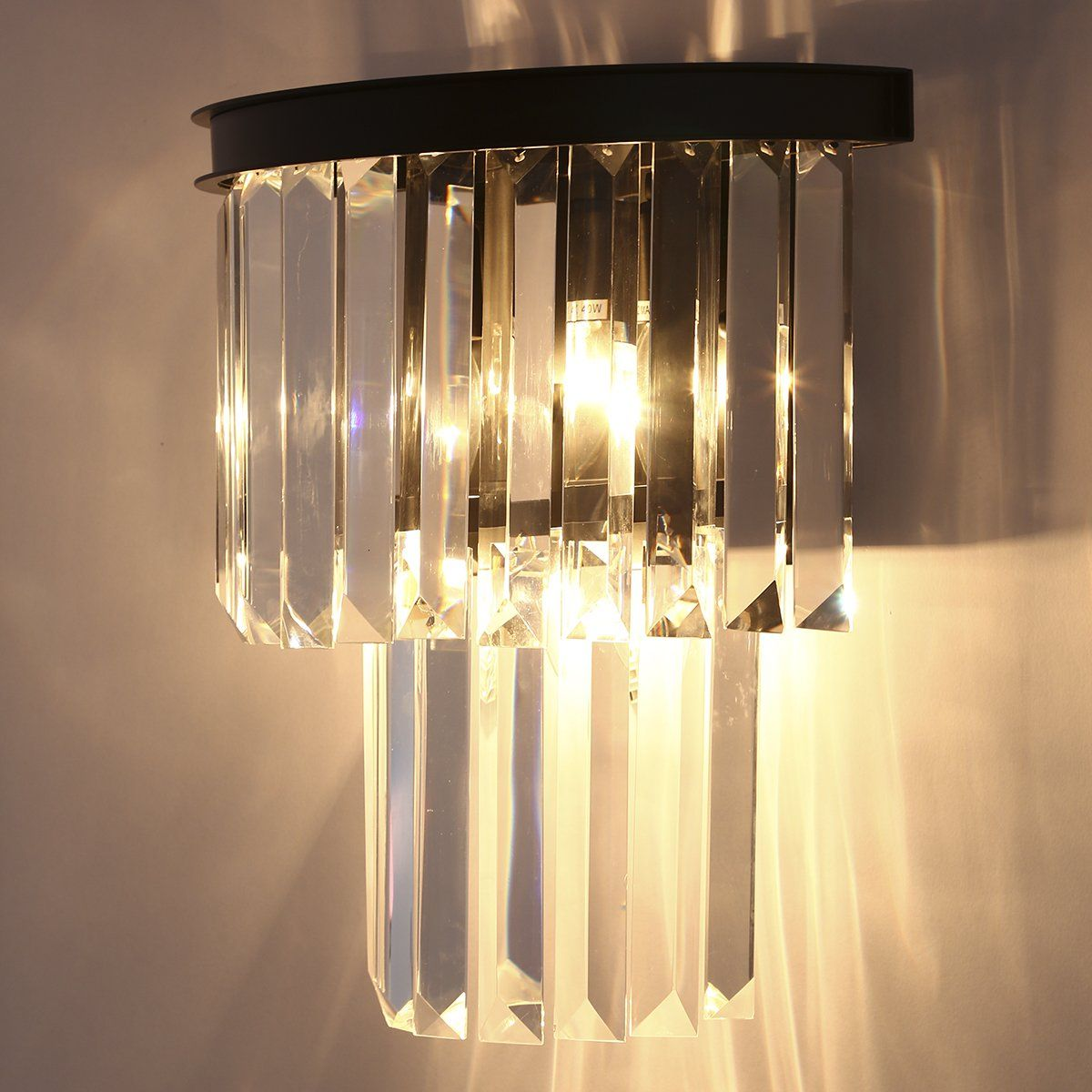 Crystal Prism Wall Sconce Lamp 3 Lights Ceiling Light Creative ...