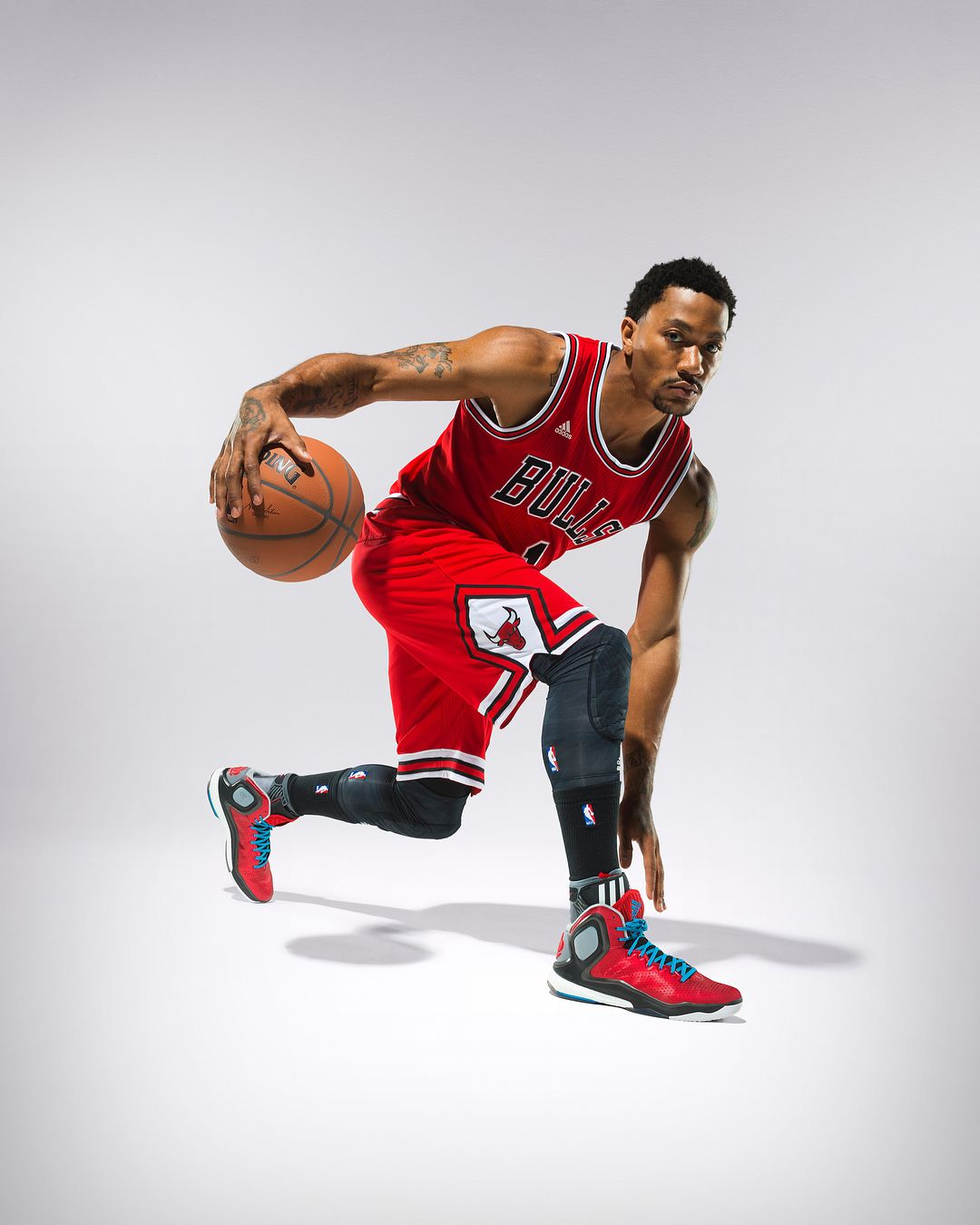 big sale 49465 20e7a Derrick Roses photo shoot for the adidas D Rose 5 Boost. TBT.