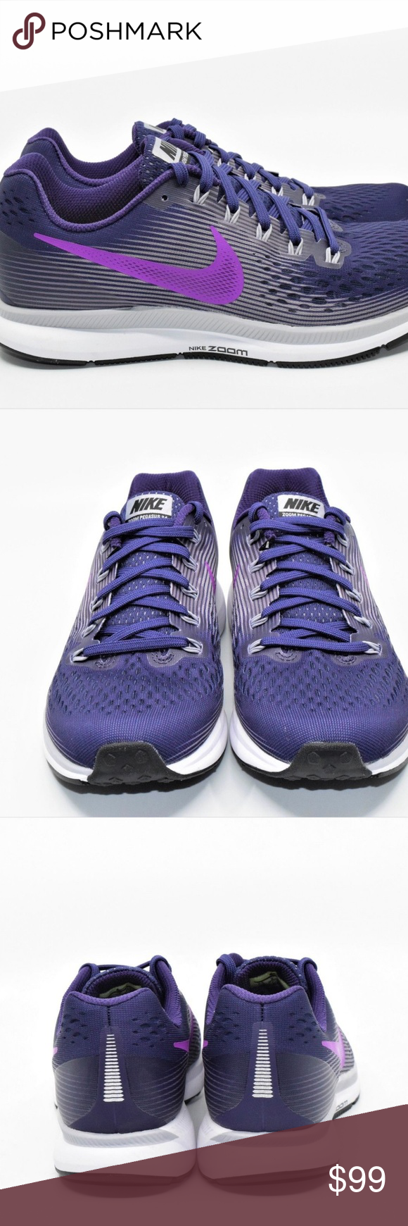 979d19d6850 Nike Air Zoom Pegasus 34 Hyper Ink Purple Nike Air Zoom Pegasus 34 Hyper Ink  Purple Womens Running Shoes 8.5 880560-500 New without box Nike Shoes  Athletic ...