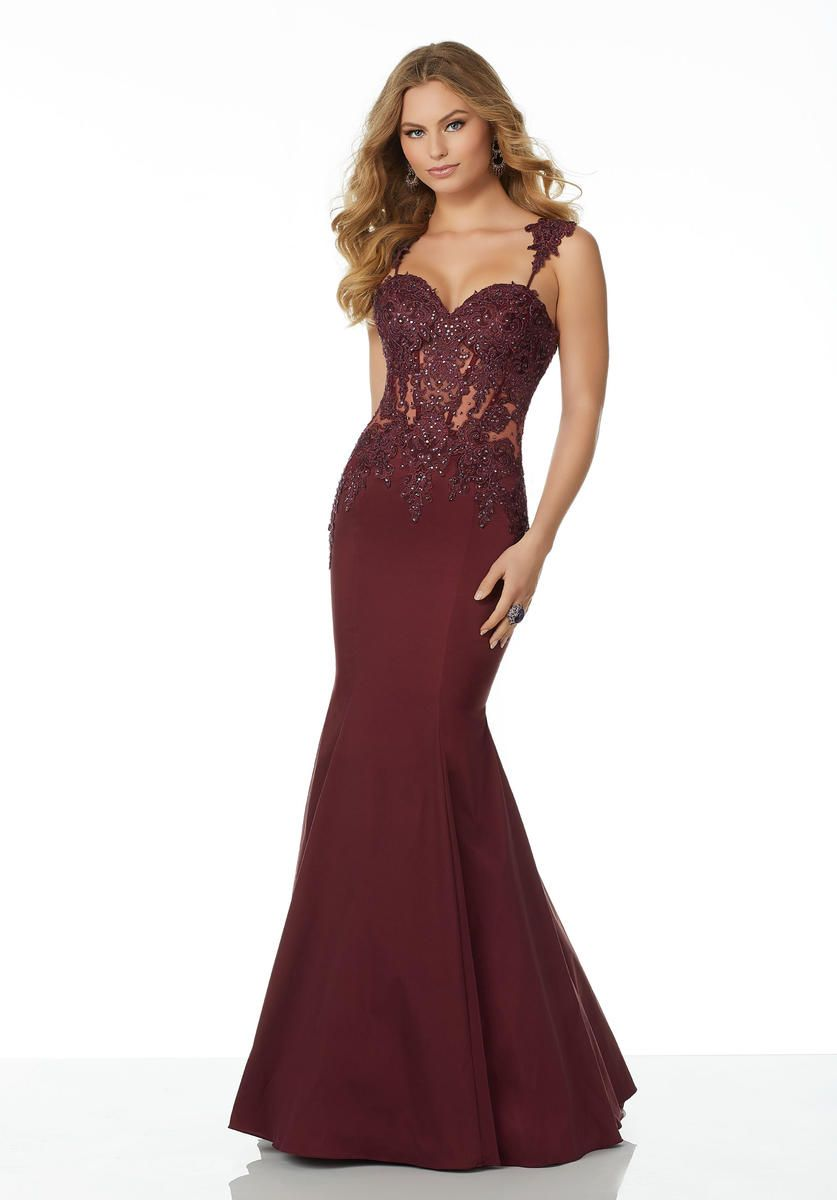 a6c03d9cbab Morilee 42067 Sheer Beaded Lace Prom Dress in 2019