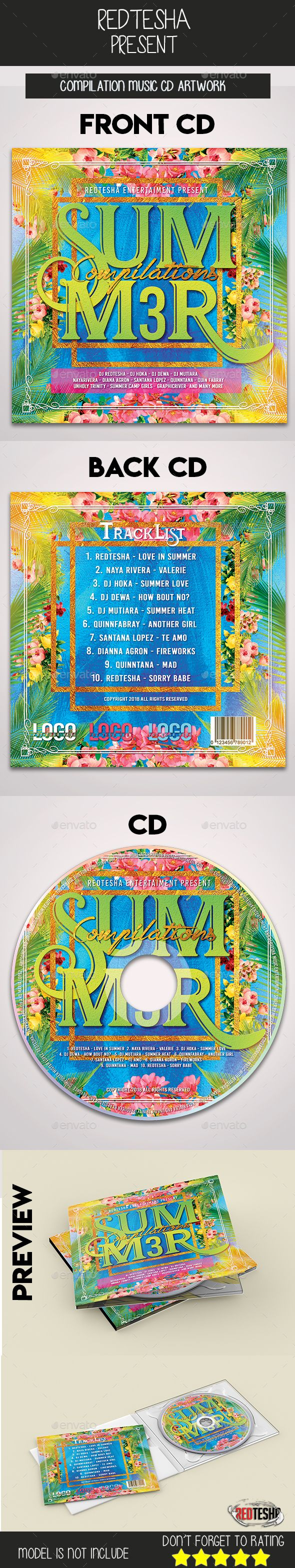 now available perfect cd artwork template for promoting your music