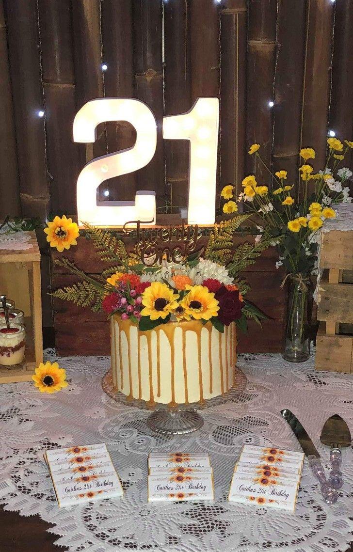21st birthday cake cake table birthday 21st birthday