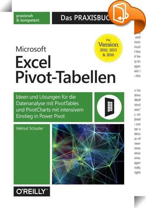Microsoft Excel Pivot-Tabellen: Das Praxisbuch : Für die Analyse ...