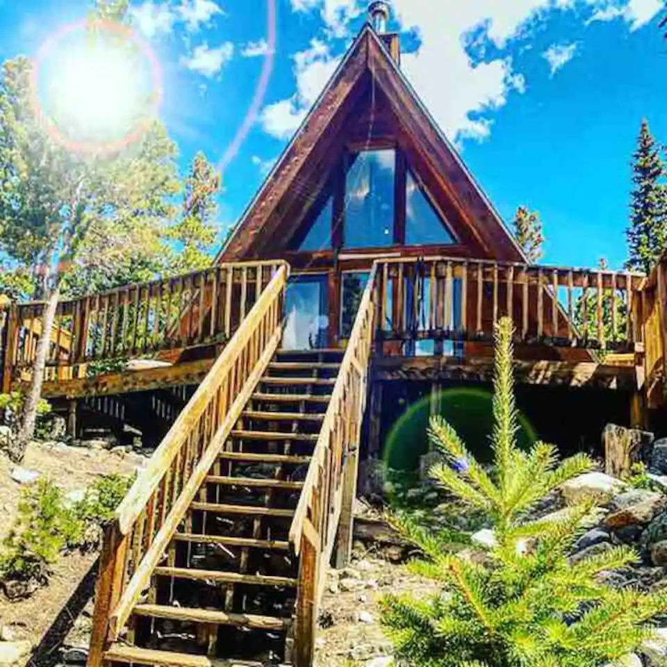 The Alpine A Frame Cozy Cabin With Barrel Sauna Cabins For Rent In Idaho Springs Colorado United States Secluded Cabin Idaho Springs Colorado Cabins