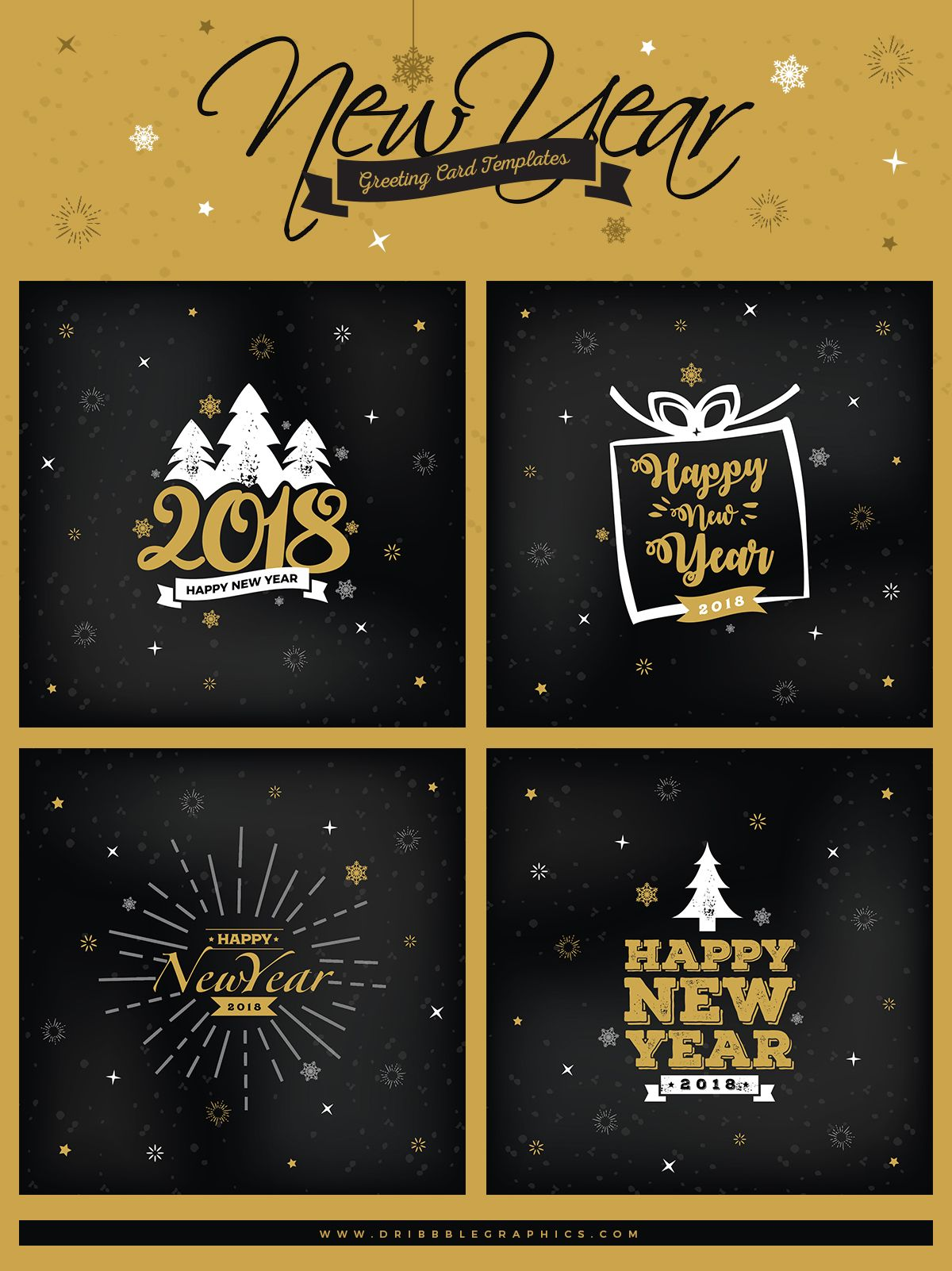 4 Free New Year Greeting Card Templates Greeting Card Template New Year Greeting Cards Holiday Card Template
