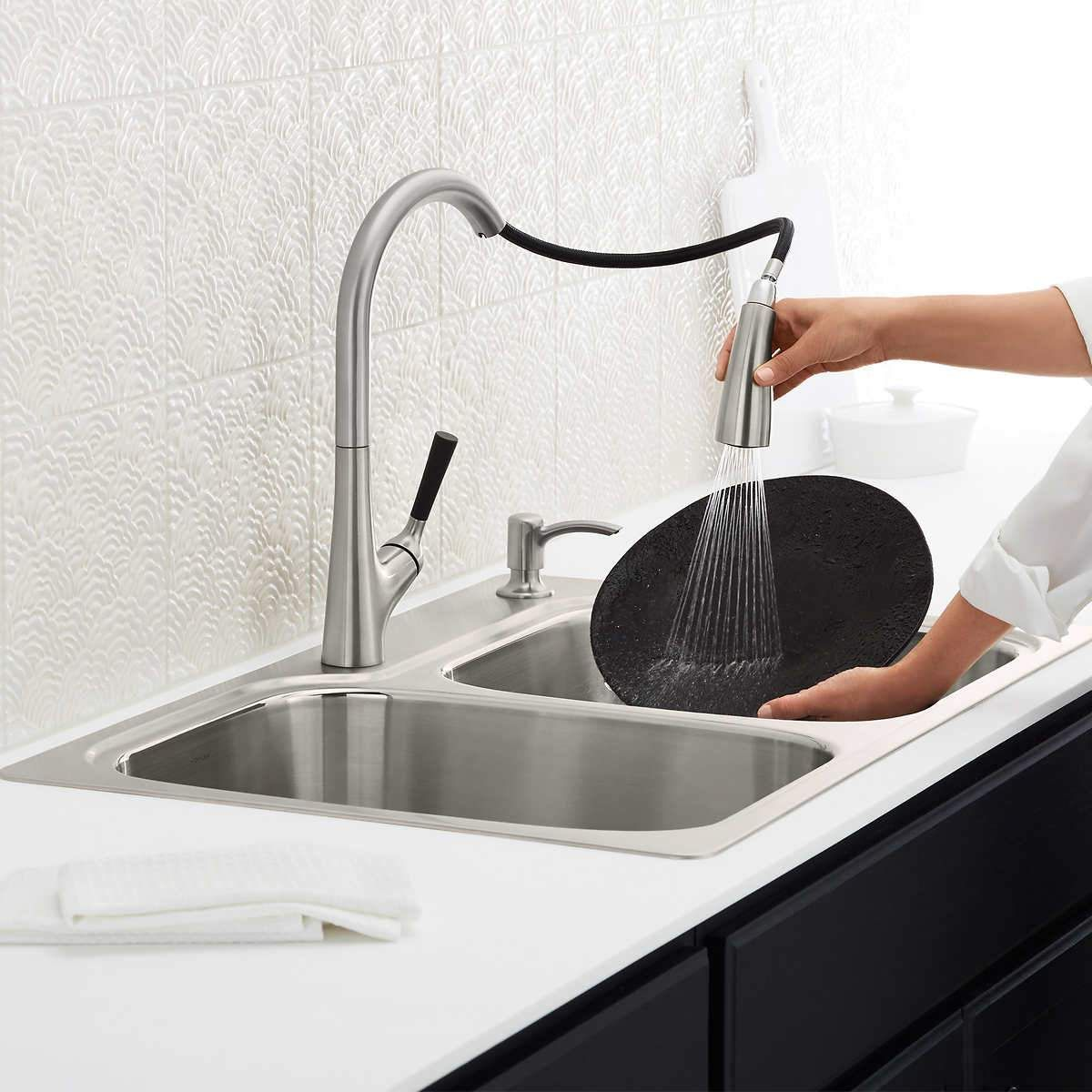 Kohler Stainless Steel Sink and Faucet Package | Products ...