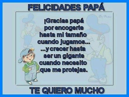 poesias para mi papa por su cumpleañoss   Felicidades Papá! Gracias padre por encogerte hasta mi tamaño cuando ...