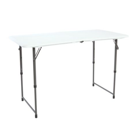 Ordinaire Lifetime Adjustable Leg Folding Table 80218 4 Foot Trade Show Table