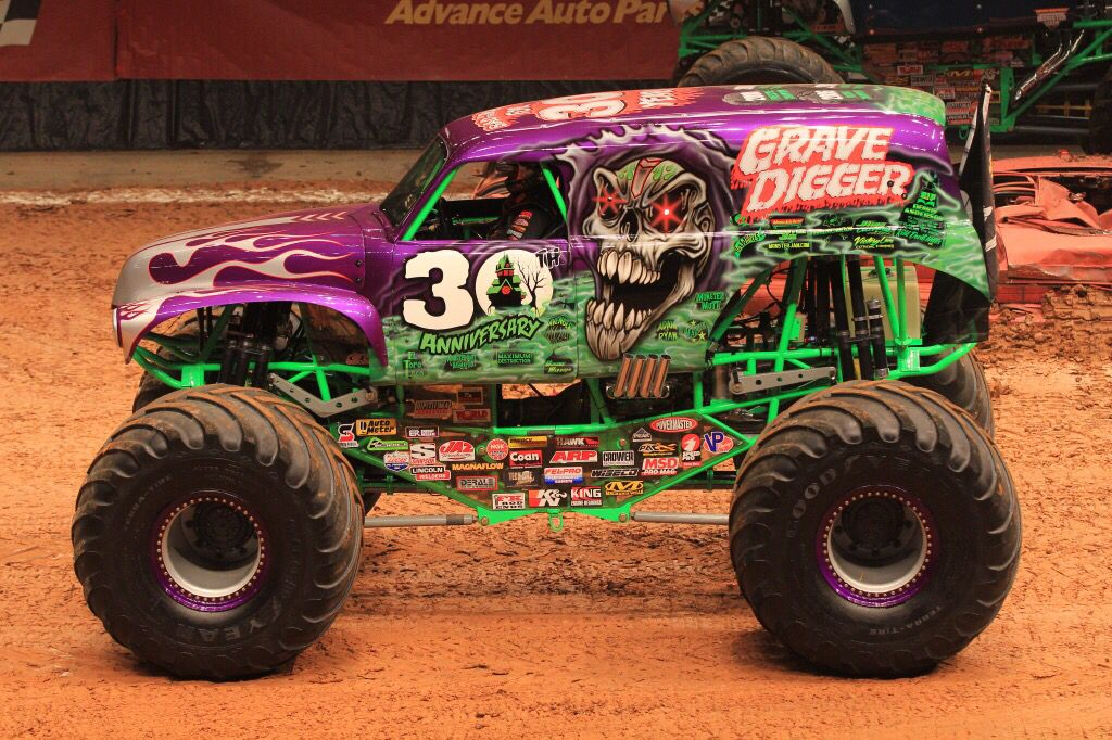 Grave Digger 30th Anniversary Purple With Images Monster