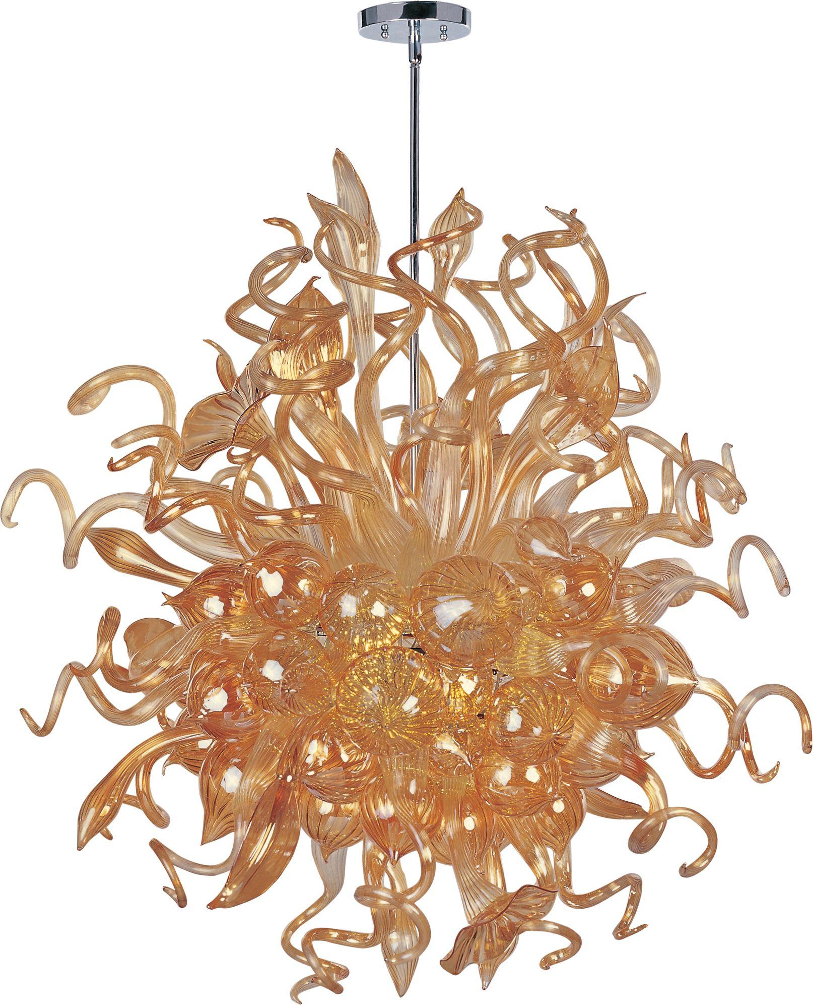 sale glass brass chandelier for century italian mid armed orange