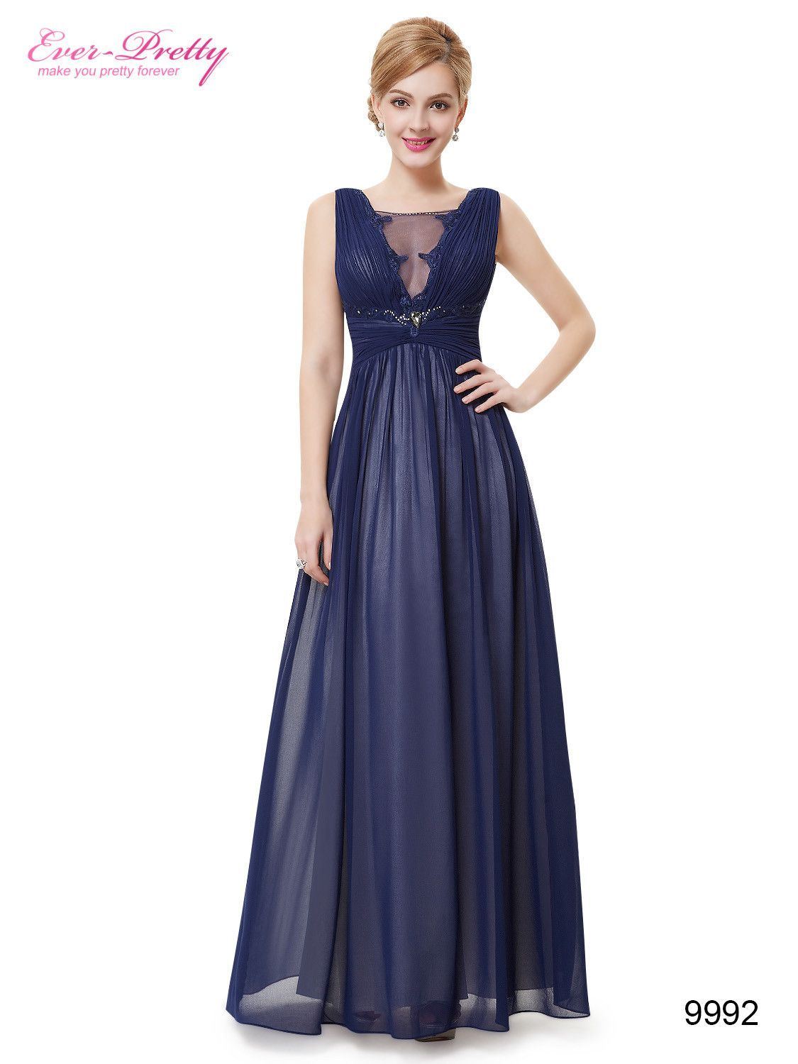 1caee2d3232d Occasion: Formal Evening Item Type: Evening Dresses Waistline: Empire  is_customized: No Fabric Type: Chiffon Dresses Length: Ankle-Length  Neckline: V-Neck ...