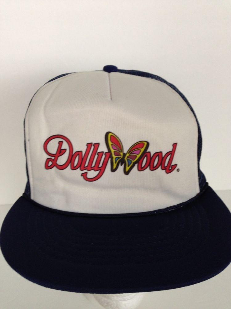 Dollywood hat blue lid mesh snapback trucker cap lid retro