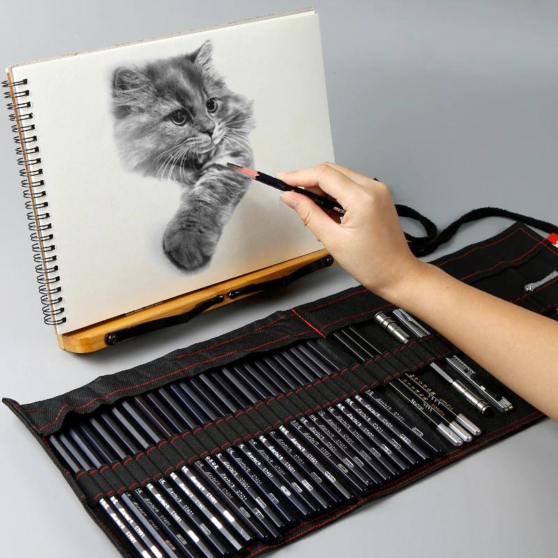 374.08руб. 38% СКИДКА Marie's карандаш для эскизов, набор для начинающих 2b4b, инструменты для рисования для взрослых, ручки для эскиза, Детские карандаши, сумка для рисования, художественные принадлежности Рисовальные наборы    АлиЭкспресс