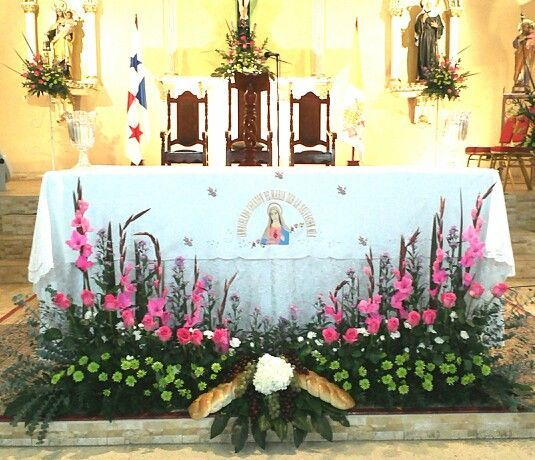 Church Wedding Decorations Altar Flowers Spray: Primera Comuni?n Altar Scapes Pinterest Altars, Easter And