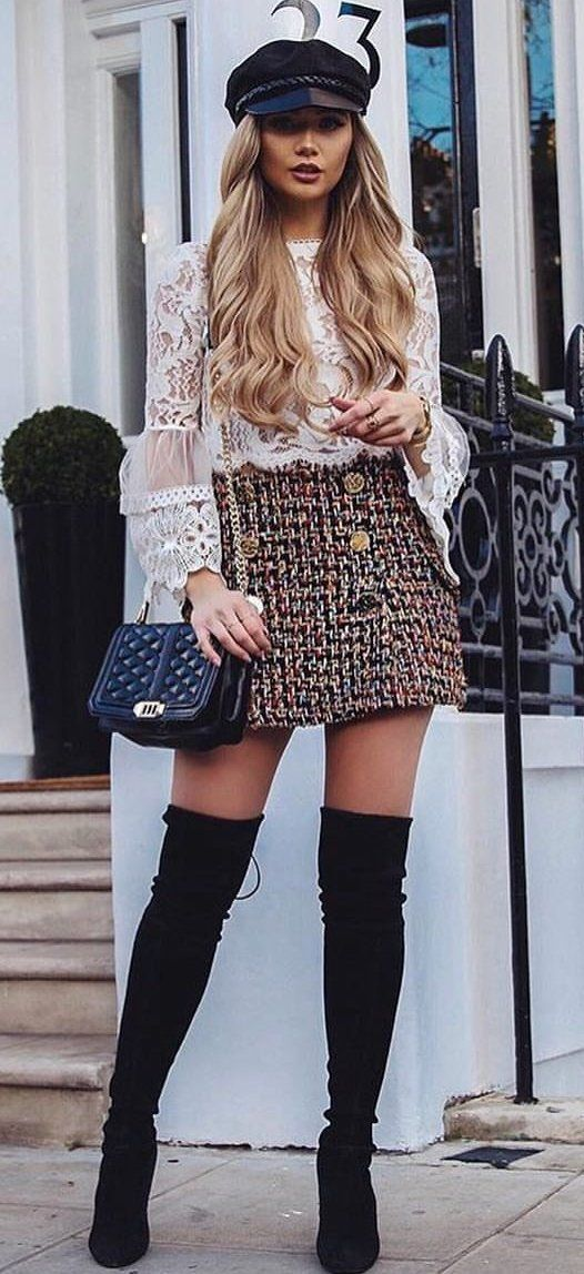 long dress with long boots