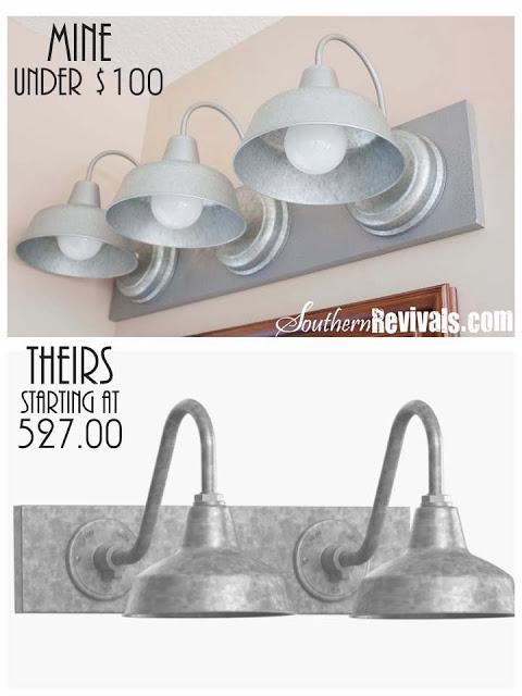 Photo of DIY gooseneck triple galvanized vanity light for under $ 100 – Southern Revivals