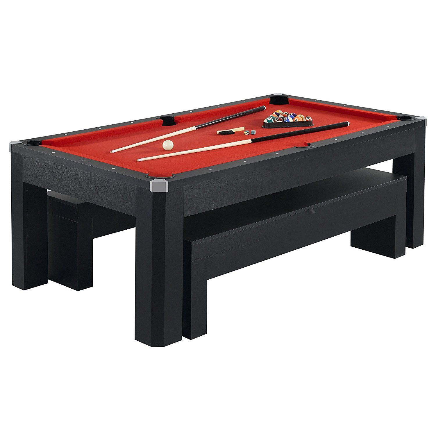 Amazoncom Hathaway Park Avenue Pool Table Tennis - Full size pool table ping pong combo