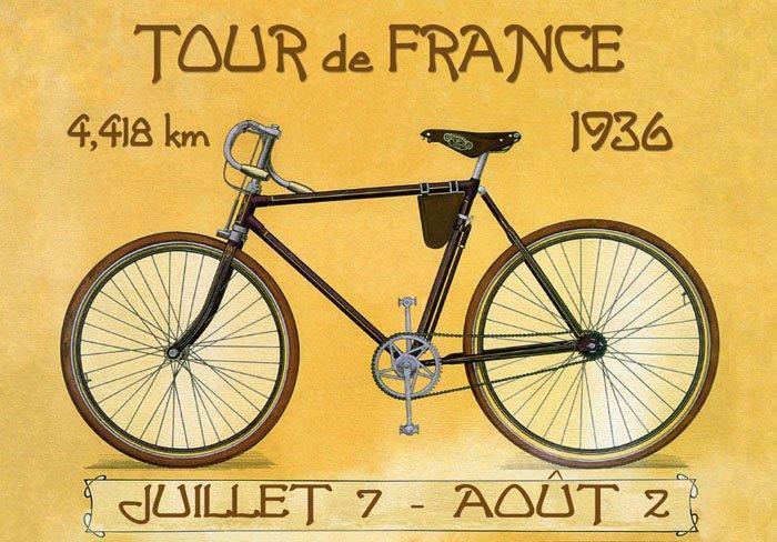 Tour de France 1936 Official Poster
