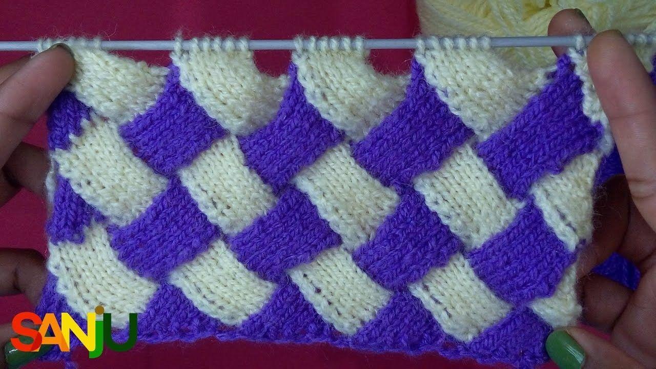 Interlock Knitting Pattern Design Knittingcrochet Pinterest