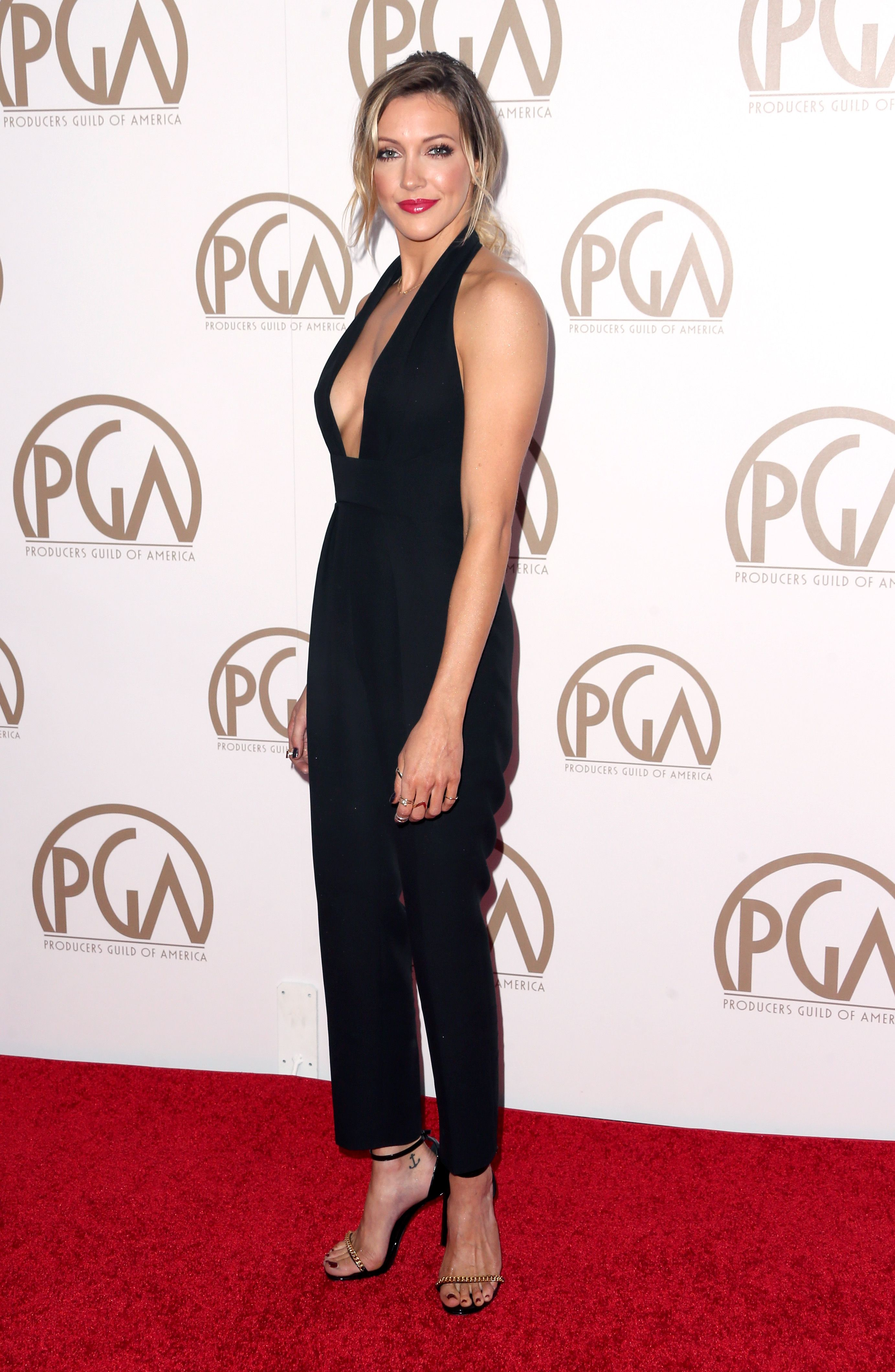 Roter Teppich Los Angeles Katie Cassidy At The Annual Producers Guild Of America Awards In