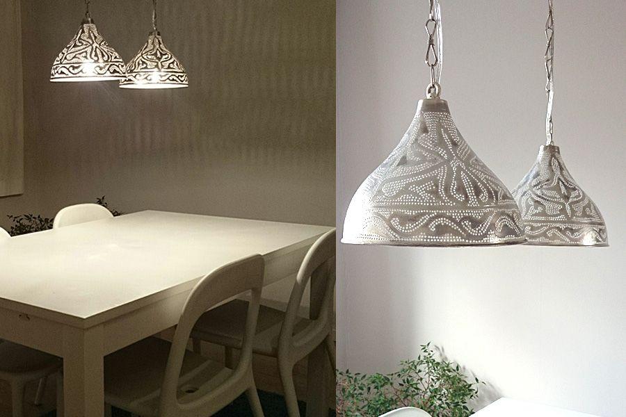 Eettafel hanglampen Sorraya van Nour Lifestyle - Lampen ...