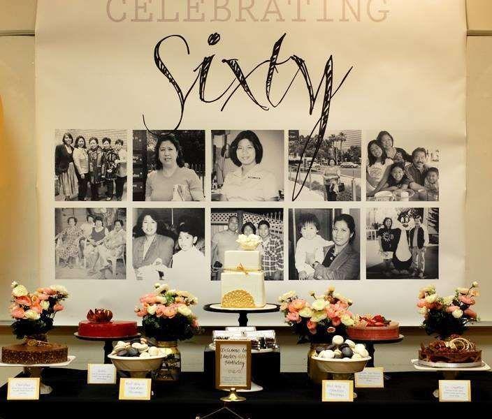 60th Birthday Party Centerpiece